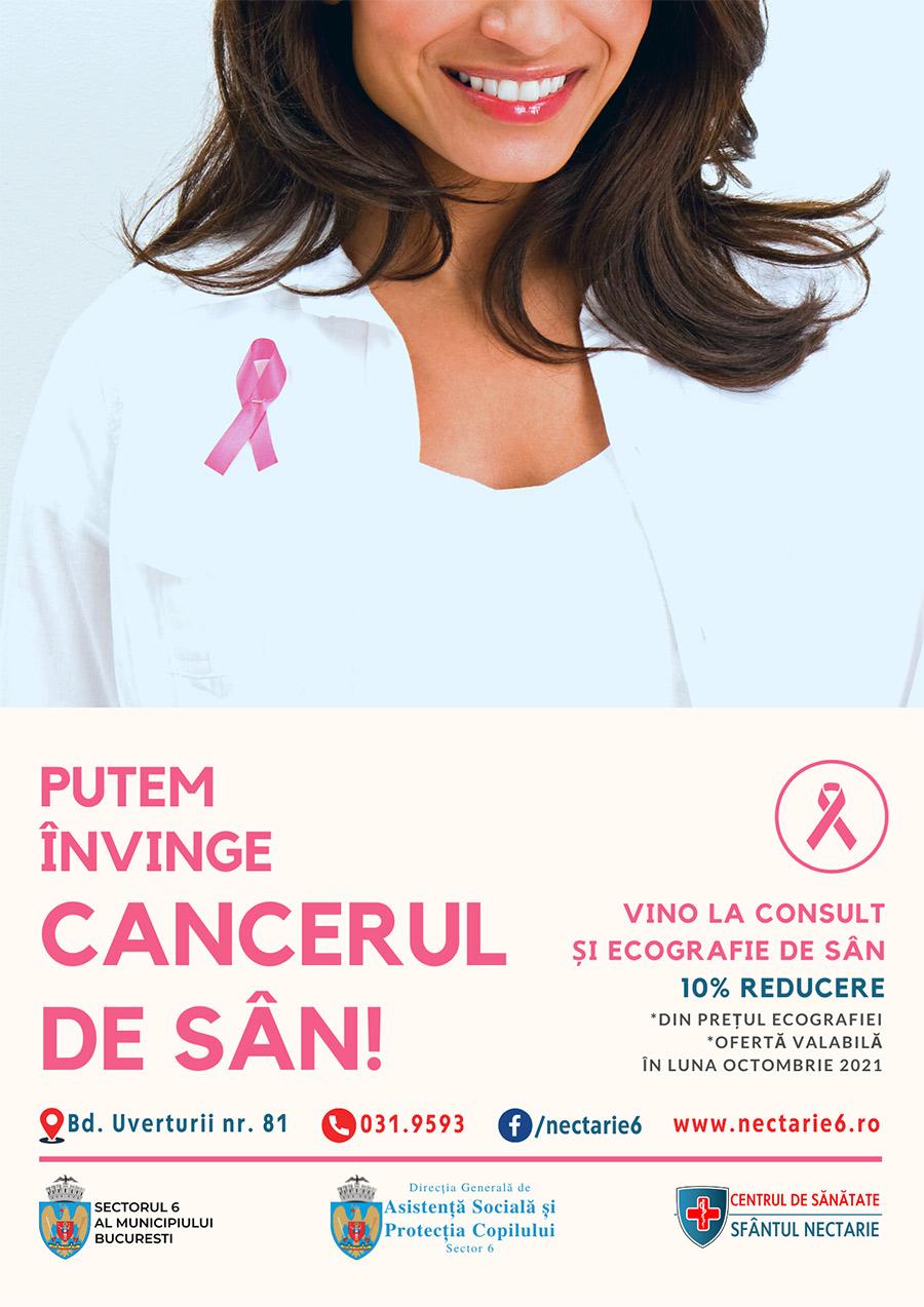 Împreună putem învinge cancerul de sân!