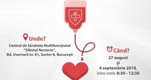 """Campanie de donare de sânge - """"6 PENTRU VIAȚĂ!"""""""