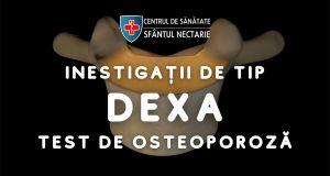 Cel mai mic preț din București la investigația de tip DEXA  (test de osteoporoză)