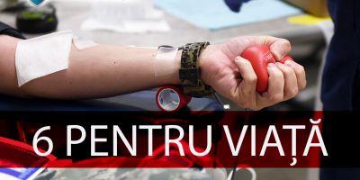 """Fiți alături de noi în campania de donare de sânge """"6 PENTRU VIAȚĂ""""!"""
