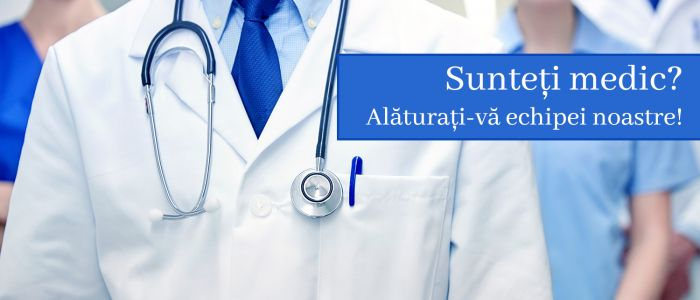 Sunteți medic? Alăturați-vă echipei noastre!