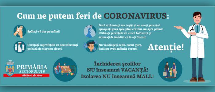 Autorităţile Locale ale Sectorului 6 continuă lupta de prevenire a răspândirii virusului COVID – 19