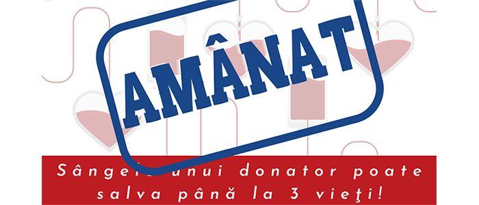 Salvează vieți, donează sânge!